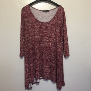 Rose and Olive light knit top